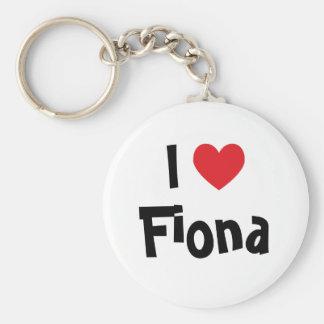 I Love Fiona Keychain