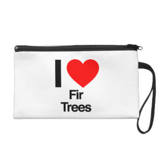 i love fir trees wristlet purse