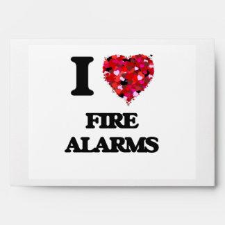I Love Fire Alarms Envelope