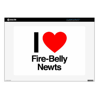 "i love fire-belly newts 15"" laptop skins"