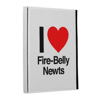 i love fire-belly newts iPad folio cases