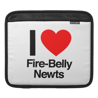 i love fire-belly newts sleeves for iPads