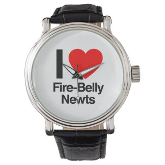 i love fire-belly newts wristwatches