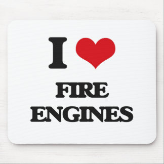 i LOVE fIRE eNGINES Mouse Pad