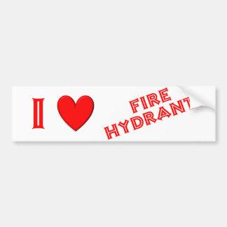 I Love Fire Hydrants Bumper Stickers