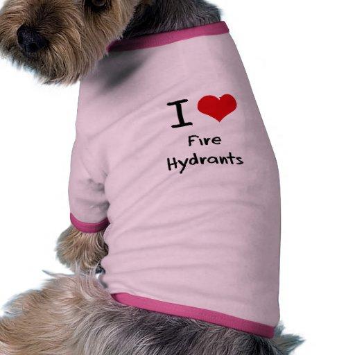 I Love Fire Hydrants Dog Shirt