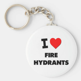 I Love Fire Hydrants Keychain