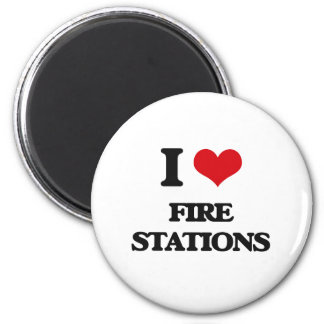 I love Fire Stations 2 Inch Round Magnet