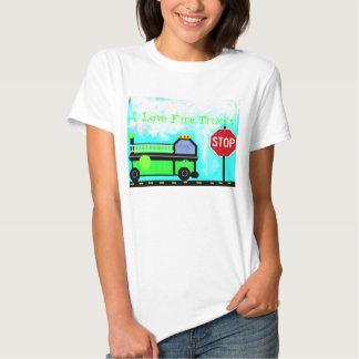 I Love Fire Trucks Tee Shirt