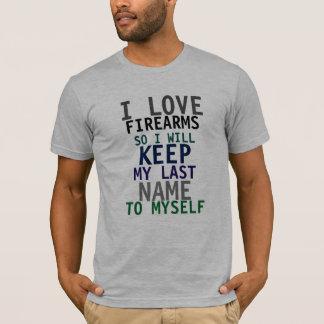 I Love Firearms Mens T-Shirt