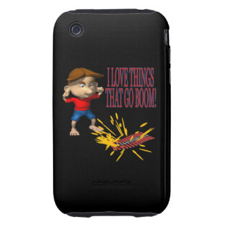 I Love Firecrackers Tough iPhone 3 Cover