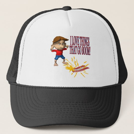I Love Firecrackers Trucker Hat