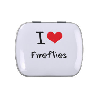 I Love Fireflies Candy Tin
