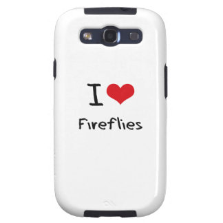 I Love Fireflies Samsung Galaxy SIII Covers