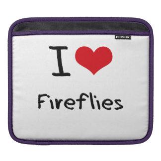 I Love Fireflies iPad Sleeves