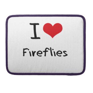 I Love Fireflies Sleeve For MacBooks