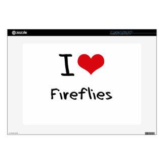 I Love Fireflies Laptop Skin