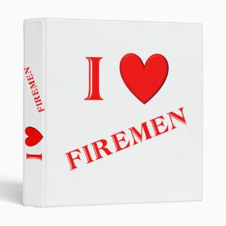 I Love Firemen Vinyl Binder
