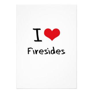 I Love Firesides Custom Invites