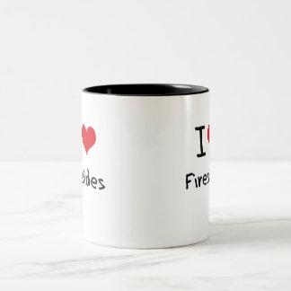 I Love Firesides Two-Tone Coffee Mug