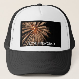 I LOVE FIREWORKS! 2 TRUCKER HAT