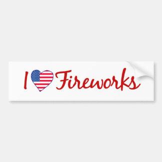 I Love Fireworks Car Bumper Sticker