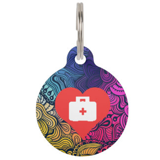 I Love First Aid Cabinets Design Pet Name Tags