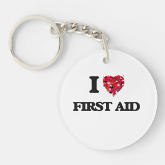 I Love First Aid Single-Sided Round Acrylic Keychain