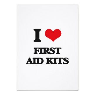 i LOVE fIRST aID kITS 5x7 Paper Invitation Card