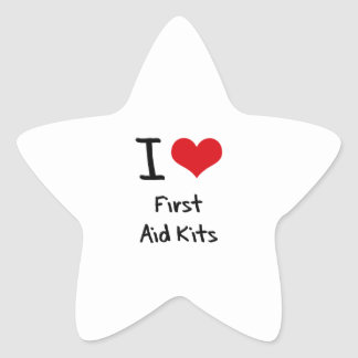 I Love First Aid Kits Star Sticker
