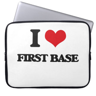 i LOVE fIRST bASE Computer Sleeves