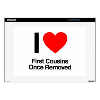 i love first cousins once removed decal for laptop