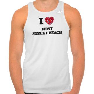 I love First Street Beach Michigan T-shirt