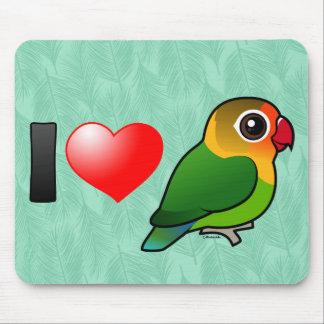 I Love Fischer's Lovebirds Mousepads