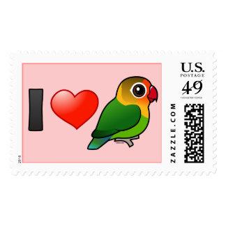 I Love Fischer's Lovebirds Postage