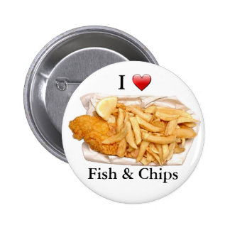 I Love Fish and Chips 2 Inch Round Button
