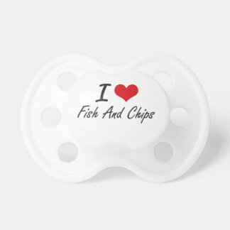 I love Fish And Chips BooginHead Pacifier