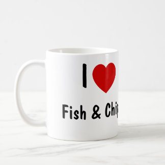 I Love Fish And Chips Classic White Coffee Mug