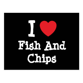 I love Fish And Chips heart T-Shirt Postcard