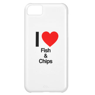 i love fish and chips iPhone 5C cases