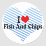 I Love Fish And Chips Sticker