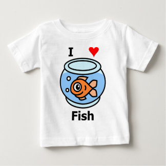 I Love Fish Baby T-Shirt
