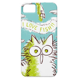 I love fish! *Blue sky and white clouds ver iPhone 5 Case