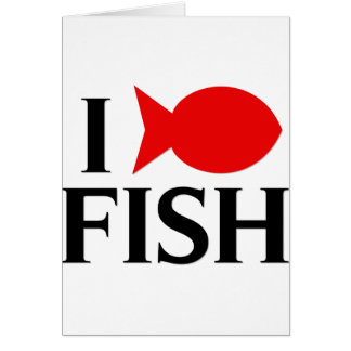 I Love Fish Card