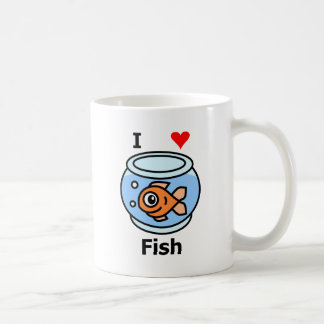 I Love Fish Coffee Mug
