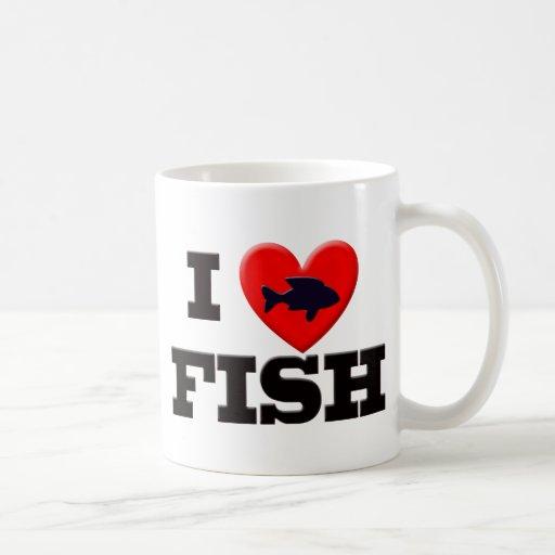 I LOVE FISH COFFEE MUG