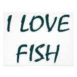 I Love Fish Custom Announcement