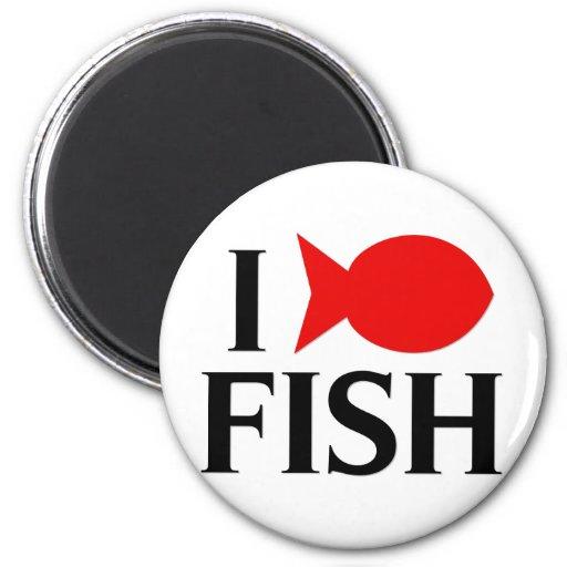 I Love Fish Fridge Magnets