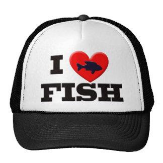 I LOVE FISH MESH HATS
