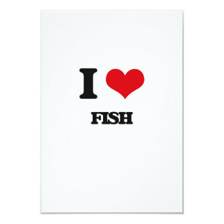 i LOVE fISH 3.5x5 Paper Invitation Card